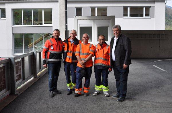 Integrationsprojekt im Altstoffsammelzentrum der Stadt Bludenz.
