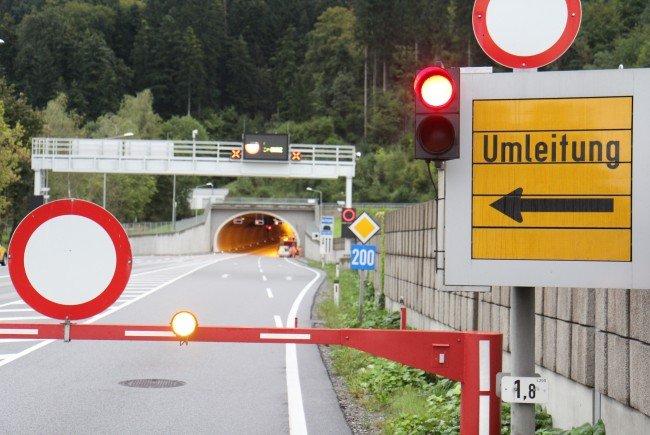 Achtung: Nächtliche Sperren im Achraintunnel im Zeitraum vom 24. bis 28 April