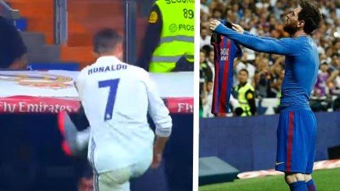 Video: Hier flippt Cristiano ausals Messi vor der Fan-Kurve feiert
