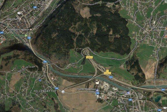 Bauarbeiten bei Anschlussstelle Feldkirch-Frastanz