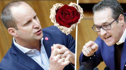 """""""Voller Liebe"""": Matthias Strolz """"schenkt"""" HC Strache ein!"""