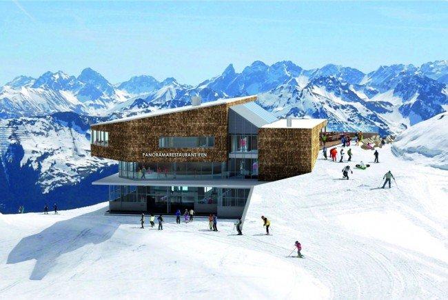 So wird die Bergstation der neuen Ifen-Lifte aussehen.