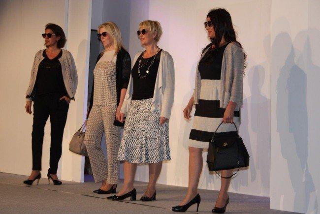 Model wie Maria Nussbaumer, Susi van Velzen und Wenke Tinner präsentierten in Rankweil die Frühjahrs- und Sommermode