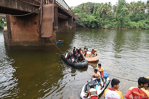 Die Brücke war eigentlich gesperrt