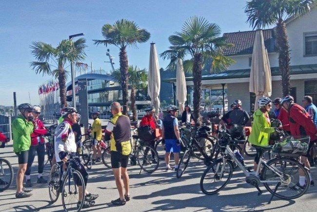 Radteam per pedales startet am Bregenzer Hafen in Richtung Nonnenhorn