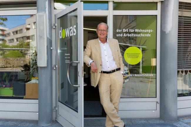 Michael Diettrich vor dem Dowas in Bregenz.