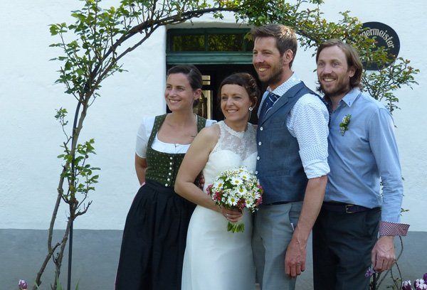Hochzeitsfeier von Petra und Lukas.