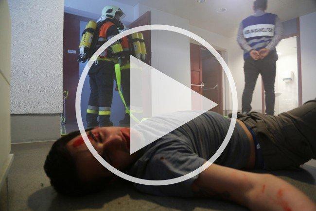 Über 120 Personen waren bei dieser Feuerwehrübung involviert.
