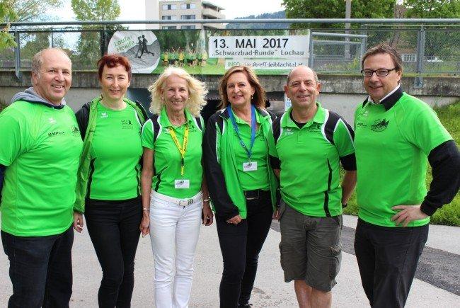 """Das Organisationsteam des """"LaufTreff Leiblachtal"""" freute sich als engagierter Veranstalter über einen erfolgreichen 4. Charity-Lauf-Event in Lochau am Bodensee."""