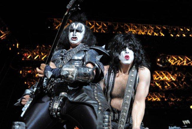 Kiss gaben wieder alles auf der Bühne.