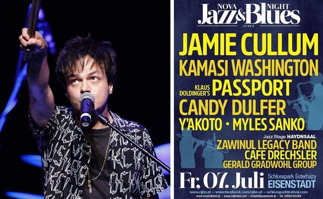 Jamie Cullum wird am 7. Juli beim Nova Jazz & Blues Night Festival mit von der Partie sein.