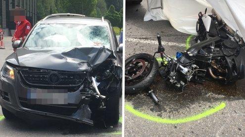 55-jährige Motorradfahrerin in Bersbuch tödlich verunglückt