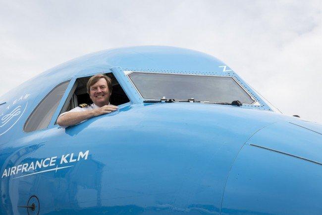 Willem-Alexander fliegt für KLM: Der König im Cockpit