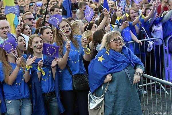 Ukrainer bejubeln Visumfreiheit mit der EU