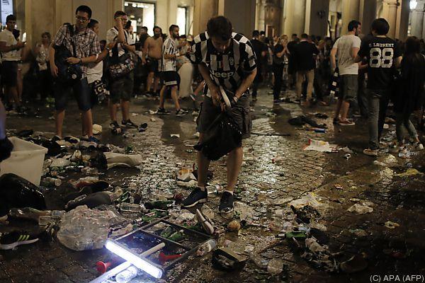 Italien: Panik-Szenen beim Public Viewing in Turin - Verletzte