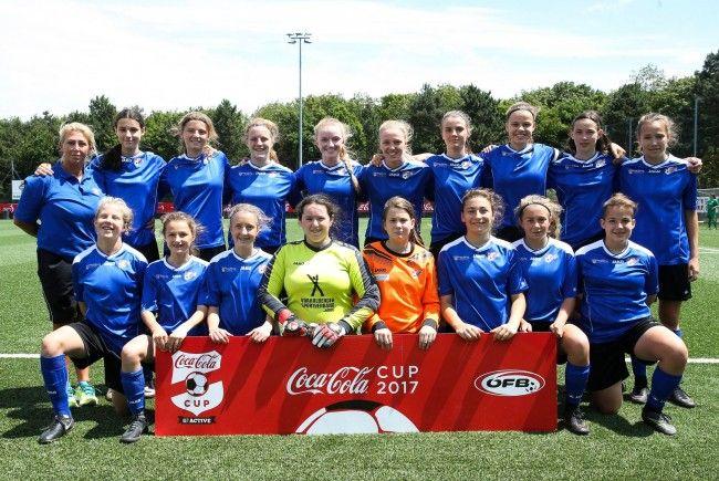 Knapp am dritten Titel vorbeigeschrammt - die Vorarlberg U16-Mädchenauswahl beeindruckte trotzdem beim Coca Cola Cup 2017.