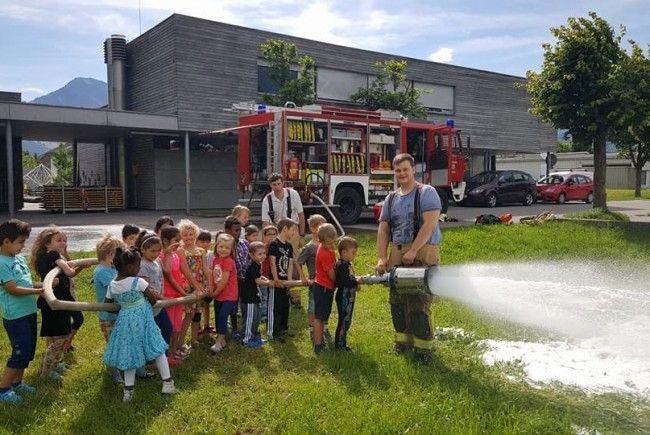 Besuch von der Feuerwehr