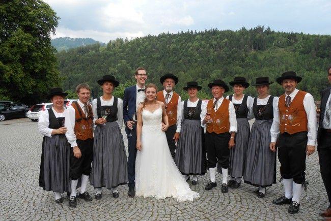 Hochzeitsständchen des MV Meiningen