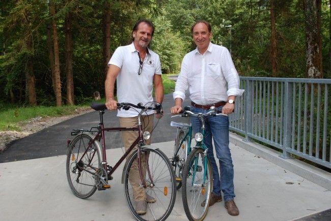 Nun ist er offiziell eröffnet: der neu gestaltete Radweg im Bereich Aktivpark.