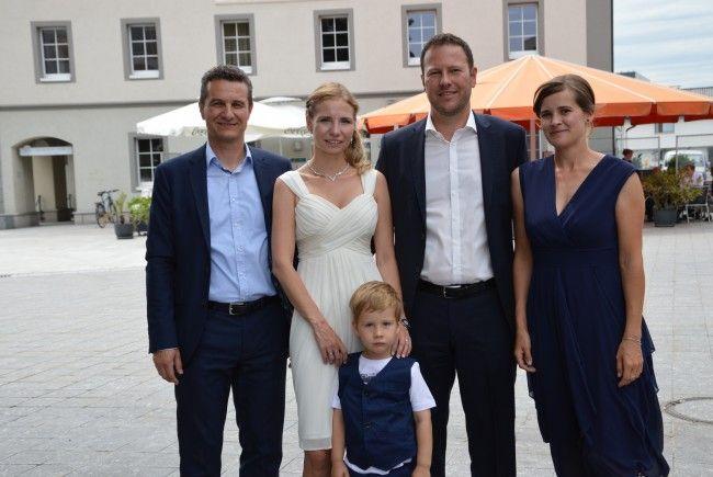 Julia Schertler und André Röck feierten ihre standesamtliche Trauung.