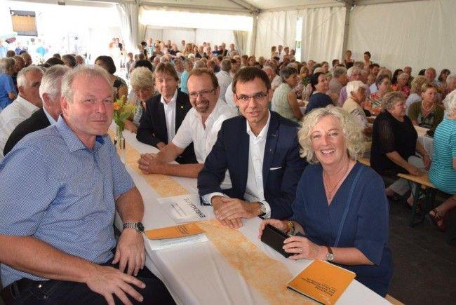 Auch die Bürgermeister der Kummenberggemeinden und Landeshauptmann Markus Wallner wohnten der Eröffnung bei