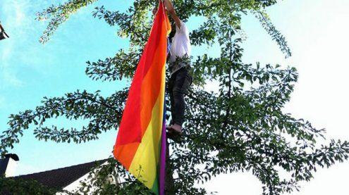 Hörbranz: Regenbogenfahne auf dem Gemeindeamt verhindert