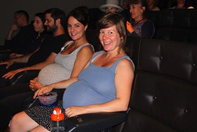 Kino einmal anders: 99 Prozent der Besucher waren Frauen, viele davon mit Babybäuchen.