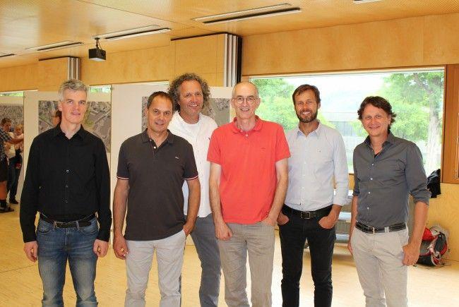 Die Planungsgruppe Zentrum Frastanz besteht aus den Architekten Markus Amann, Martin Summer, Walter Müller, Hermann Gort und Peter Schneider sowie Verkehrsexperte Anton Gächter.