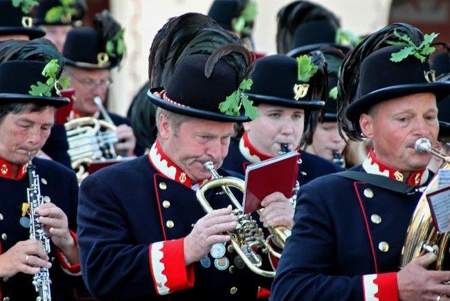 Die Hörbranzer Musikanten tragen nur selten die historischen Uniformen