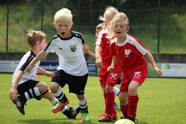 SCR Altach beim Bambini Turnier in Schlins