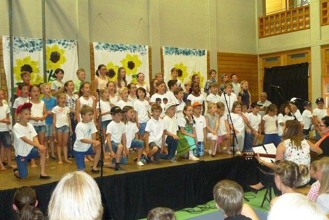 Die Volksschule Batschuns lud zum diesjährigen Sommerfest!