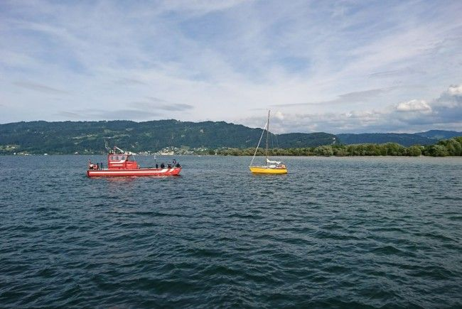 Seepolizei Hard warnt vor Untiefen im Bereich Bregenzer-Achmündung