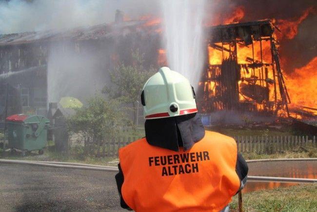Wohnbereich ist komplett abgebrannt