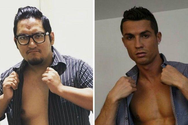 Wie sein Idol: Dieser Normalo macht auf Cristiano Ronaldo