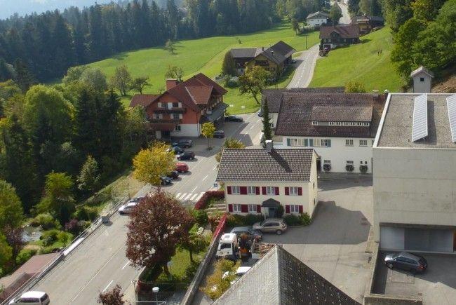 Blick auf die Durchfahrtsstraße der Gemeinde Doren