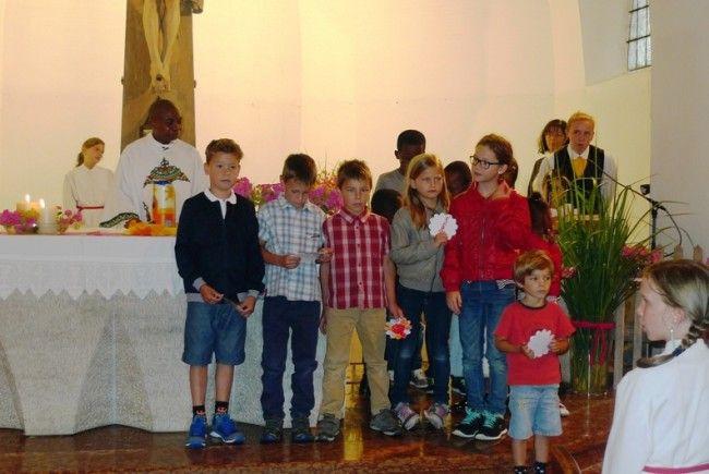 Die Kinder der Kinderkirche feierten beim Patrozinium mit.