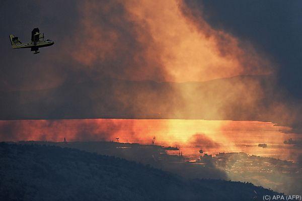 Waldbrände bedrohen kroatische Grossstadt Split