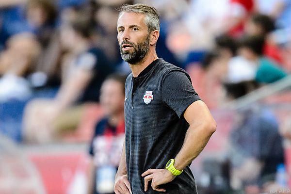 Salzburg-Trainer Marco Rose gibt sich bescheiden