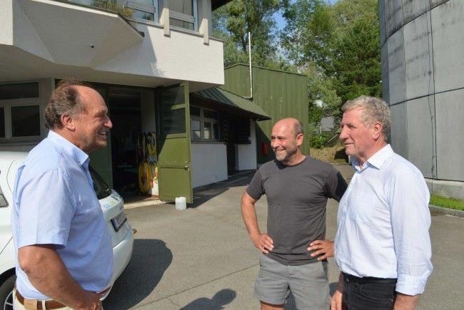 Energieregion Leiblachtal: Besuch von Landesrat Erich Schwärzler