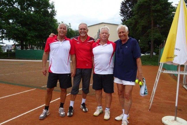 Vorarlbergs Tennis-Senioren auch in der 3-Länder-Bodenseeliga vorne dabei.