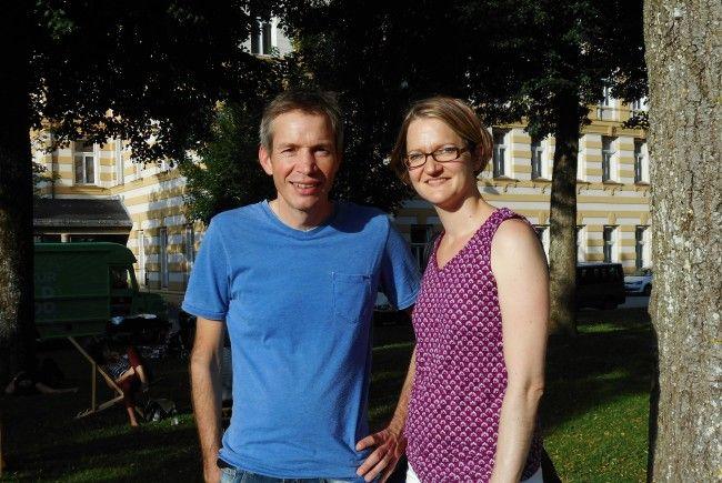 """Joachim Kühne-Lerch (hier mit seiner Gattin Maria) ist begeisterter Schwimmer und Obmann der """"Flying Flippers""""."""