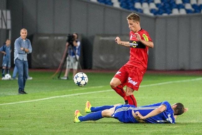 Im Hinspiel in Tiflis gewann der SCR Altach mit 1:0 gegen den FC Tschichura Satschchere.