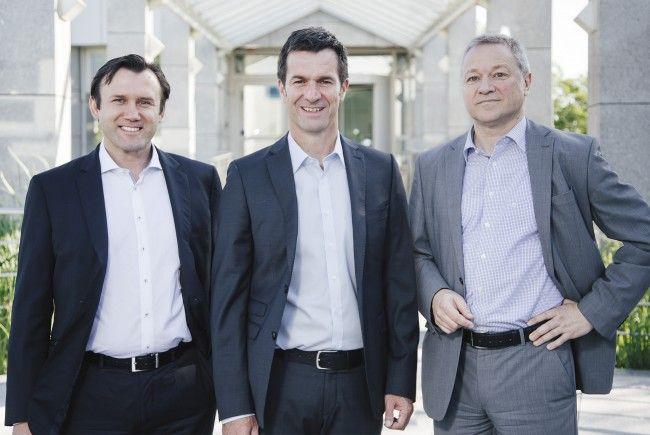 Die neue Geschäftsführung des Beschlägeherstellers GRASS (von links): André Stiller, Thomas Zenker und Thomas Müller.