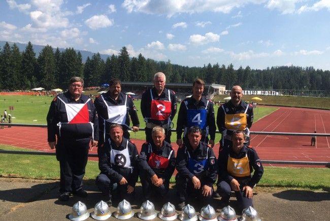 Die erfolgreiche Wettkampfgruppe der Feuerwehr Lauterach