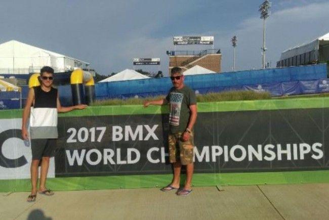 BMX-Riders bei der WM in Rock Hill