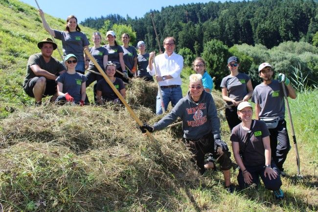 Landesrat Johannes Rauch besuchte die Vielfalter im Fastanzer Ried.
