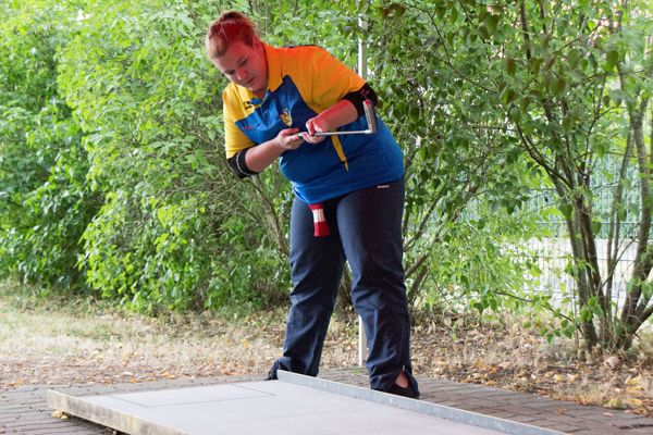 Katharina Moschen holte sich Silber bem KO-Bewerb.