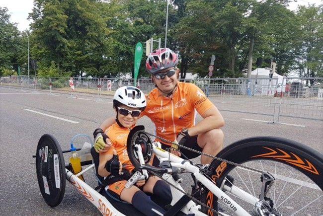 Maxi Taucher überzeugt immer wieder mit Spitzenplätzen bei Handbike-Rennen.