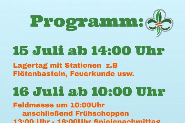Der aktuelle Flyer  mit allen Infos zum Lagertag der  Pfadfinder Ludesch
