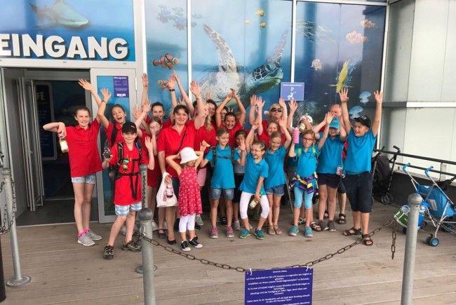 Die Koblacher Nachwuchsmusikanten im Sea Life